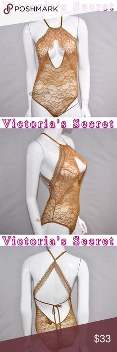 Victoria's Secret Lingerie VERY SEXY Lace New! Lace is everything in this sheer teddy with cheeky cut.  Adjustable straps  ❈ Condition: New With Tags ❈ Everything I sell comes from my clean, smoke-free & pet-free home.  ❈ All items are 100% authentic! I stand behind everything I sell. ❈ Questions? Comment below, I will be more than happy to assist you. Victoria's Secret Intimates & Sleepwear