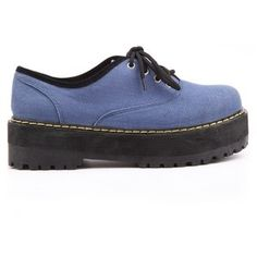 Blue Lace-up Creepers