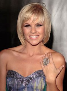 Bob Hairstyles : Good Short Bob Hairstyles With Bangs For Straight Sleek Hair In Golden Blonde Color 2016 Short Bob Hairstyles with Bangs for Fine Hair Short Bob Haircuts Layered Bob Hairstyles Bangs. Short Haircuts With Bangs, Short Hairstyles Fine, Bob Haircut With Bangs, Layered Bob Hairstyles, Haircuts For Fine Hair, Short Hair Cuts, Bob Haircuts, Easy Hairstyles, Short Bangs