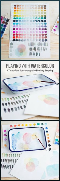 Playing with Watercolor - a 3-part series taught by Lindsay Stripling