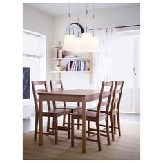 IKEA - JOKKMOKK, Chair, antique stain, Solid pine is a natural material which ages beautifully and gains its own unique character over time. 4 Chair Dining Table, Simple Dining Table, Table And Chair Sets, Dining Room Furniture, Home Furniture, Ikea Table, Furniture Sets, Small Dining Area, Dining Room Sets