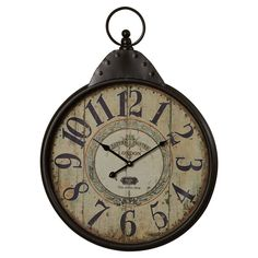 Wilksboro Oversized Fascinating Styled Berlin Metal Wall Clock