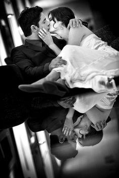 Creative and sexy shot by award-winning photographers Davina + Daniel via JunebugWeddings.com
