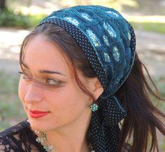The Royal Headband tichel Sparking Bandana,Snood, Head Scarf,Head Covering,jewish headcovering,Scarf,Bandana,apron