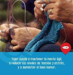 #Tip: Cambia el estrés por el #estambre...   #tejer #bienestar #salud