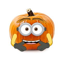 despicable me minions wood pumpkin decoration push in halloween outdoor yard despicableme