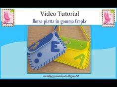 Tutorial Borsetta Love in gomma crepla - YouTube