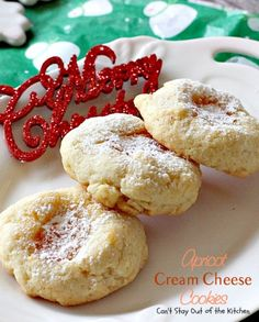 christmas cookies cream cheese Weihnachtspltzchen Apricot Cream Cheese Cookies Cant Stay Out of the Kitchen Fruit Cookies, Filled Cookies, Xmas Cookies, Keto Cookies, Yummy Cookies, Cookies Et Biscuits, Chip Cookies, Sugar Cookies, Holiday Baking