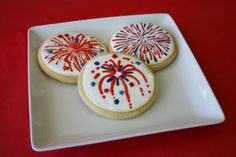 Fourth of July Firecracker cookies! Adorable