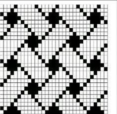 Wayuu Mochilla Bag Chart - canta - Ideas For Women's Tapestry Crochet Patterns, Fair Isle Knitting Patterns, Fair Isle Pattern, Bead Loom Patterns, Knitting Charts, Weaving Patterns, Knitting Stitches, Cross Stitch Patterns, Sock Knitting