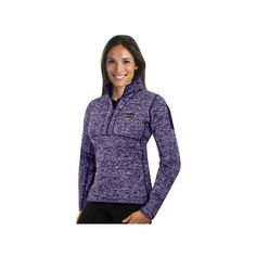 Women's Antigua Sacramento Kings Fortune Pullover, Size: Medium, Drk Purple