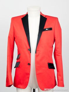 "Joshua wore this jacket by H for his performance of ""I Believe"" by Fantasia at the Top 7 redux performance show."
