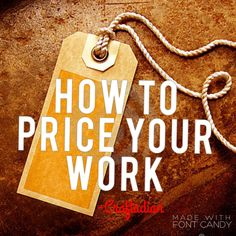 How to Price your Work - How to Price your Crafts - Pricing your Procucts - Etsy Shop Guide - Etsy Shop Help by craftadian on Etsy Craft Business, Business Tips, Price Strategy, You Working, Guide Book, Etsy Seller, Projects To Try, How To Apply, Etsy Shop