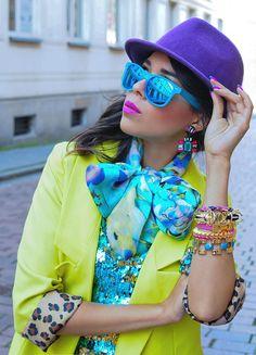MACADEMIAN GIRL: Retro Revo Color Mirror Lens Wayfarer Sunglasses 8126