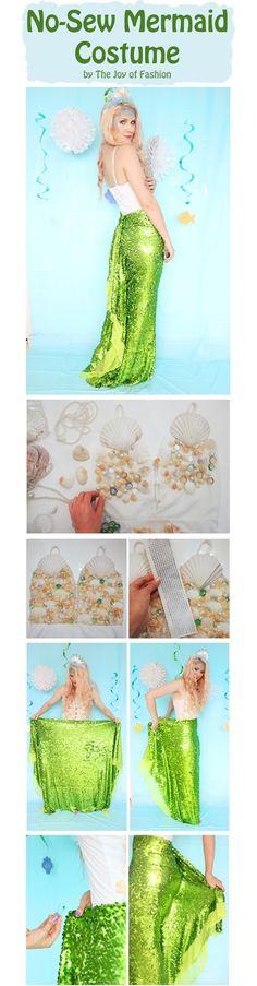 No Sew Homemade Mermaid Costume. Click through for tutorial