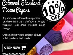 Consider using an acid free tissue paper really proves to be beneficial for preserving those items that are valuable to you. These coloured tissue paper is acid free and the items wrapped with this paper will not get damaged. Xmas Wrapping Paper, Wrapping Paper Storage, Gift Wrapping, Paper Carrier Bags, Craft Projects For Kids, Buying Wholesale, Tissue Paper, Being Used, Wraps