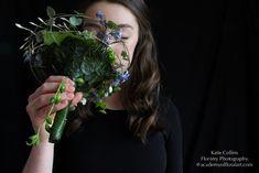 whimsical bouquet, underside,  demo for workshop in Devon, Francoise Weeks