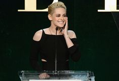 <em>Honoree Kristen Stewart speaks onstage during the 23rd annual Elle Women in Hollywood Awards at Four Seasons Hotel Los Angeles at Beverly Hills on Oct. 24, 2016. (Photo by Stefanie Keenan/Getty Images for Elle)</em>