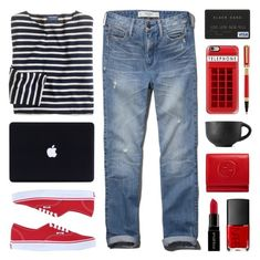 """Shopping at Home"" by lgb321 ❤ liked on Polyvore featuring Abercrombie & Fitch, J.Crew, Vans, Casetify, Versace, Gucci, NARS Cosmetics, Smashbox, shopping and internet"