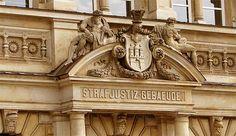 Strafjustizgebäude Hamburg mit dem Amtsgericht Mitte und dem Landgericht Hamburg am Sievekingplatz