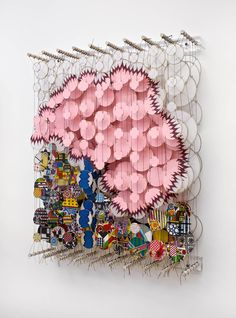 Jacob Hashimoto,  Untitled, 2012, bamboo, paper, dacron, acylic, h92 x w72 x d20 cm, courtesy the artist and Ronchini Gallery