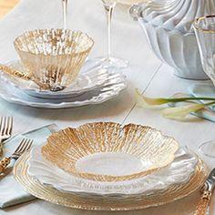 Ruffle Glass Gold  by VIETRI. #glassware