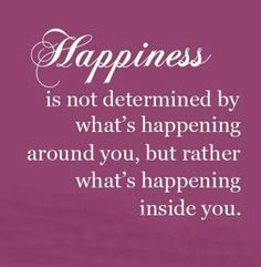 It starts with what's happening inside you...