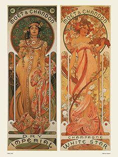 Art nouveau Poster Art Print by Alphonse Mucha Moet