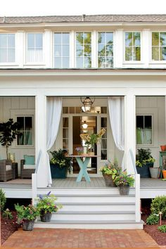 beautiful porches porch with drapes
