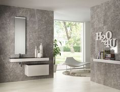 covering walls tiles with a classical feeling, Kalos collection earl grey - Lea Ceramiche