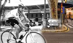 Pedaleando al presente by Alfredo Garcia alias Alfre_Xat, via Flickr - Historical old photos superimposed / combined with more recent pictures at the same location / scene