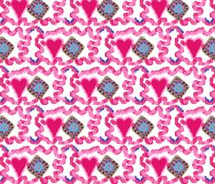 heart to heart fabric by jellybeanquilter on Spoonflower - custom fabric