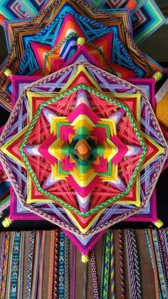Mandala weaving craft- so pretty!