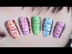 【Watch nail#926】Fashionable Colorful Sweater with Matte Texture【窝趣美甲推荐-926期】磨砂质感时尚多色毛呢甲 - YouTube