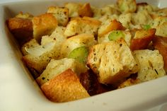 Thanksgiving Stuffing | Mel's Kitchen Cafe--but add sausage
