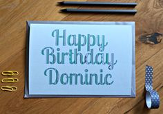 New to weheartcards on Etsy: Personalized Birthday Card Custom Birthday Luxury Keepsake Striped Greeting cards from Weheartcards WHC004 (7.95 GBP)
