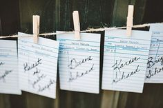 Library Wedding Place Cards
