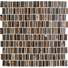 Daltile Clio - Random Mosaic Wall Tile - Smooth Glass Visual - Sold b (eos) Stone Mosaic, Stone Tiles, Mosaic Glass, Glass Tile Backsplash, Mosaic Wall Tiles, Mosaics, Kitchen Backsplash, Thing 1, Wall Installation