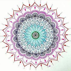 by @flexibledreams Nice work #zentangle #mandala #zendoodle #zenart #doodle…