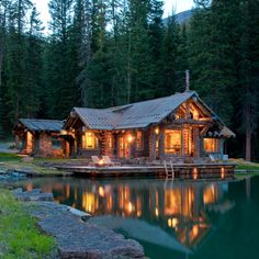 would love to live in such a place...Headwater's Camp, Big Sky, Montana.