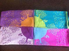 kokadi im wunderland -  mooie lente-achtige draagdoeken die goed bij een nieuwe lente outfit passen :-)