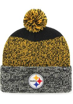 72d0d9966 '47 Pittsburgh Steelers Mens Black Static Cuff Knit Hat Steelers Hats,  Steelers T Shirts