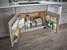 Checkout cleaning supply organization and storage ideas for keeping your home running efficiently in 5 different areas of the home! #storageideas #kitchenstorageideas