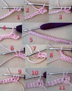 14 Beginner Crochet Tutorial, Crochet Flower Tutorial, Crochet Instructions, Crochet For Beginners, Crochet Cord, Crochet Motif, Diy Crochet, Crochet Stitches Patterns, Knitting Patterns