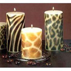 animal print candle