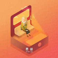 """좋아요 37개, 댓글 4개 - Instagram의 soohee(@sooh_eess)님: """"효은이의 힐링섬 이른 퇴근길에 먹는 치즈소세지페스츄리🌭 #둥둥섬시리즈 . . . . . . #일러스트레이션 #그림 #illust #illustration #illustrator…"""""""