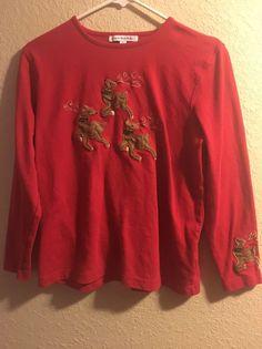 7d777ab6cf Mercer Street Studio Christmas Shirt red M  MercerStreetStudio  blouse
