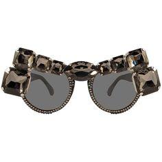 Apollo sunglasses ($189) ❤ liked on Polyvore featuring accessories, eyewear, sunglasses, swarovski crystal sunglasses and checkered sunglasses