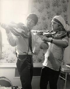 Paul McCartney and John Lennon.
