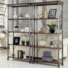 Home Styles The Orleans Multi-Function 5 Shelf Unit - Gray | from hayneedle.com